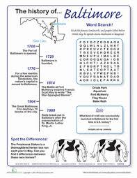 history of baltimore worksheet education com