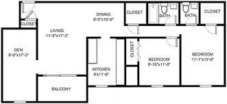 two bedroom floor plans two bedroom with den apartment homes blacksburg va