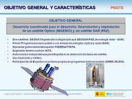 imagenes satelitales caracteristicas programa nacional de observación de la tierra por satélite pnots