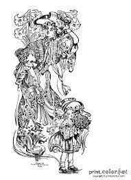 woman and celebrating easter coloring page print color fun