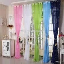 Decorative Curtains Wholesale Decorative Curtain Yarn Stars Window Screenin Sheer