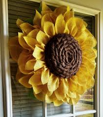 burlap sunflower wreath burlap sunflower wreath home decorators sunflower