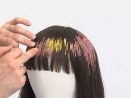 hair beading hair how to thread small in the hair to create colors