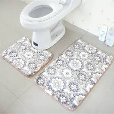 Bathroom Memory Foam Rugs Urijk Set Coral Fleece Bathroom Memory Foam Rug Doormat