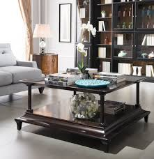 Cherry Side Tables For Living Room Decoration Ideas Cheerful Rectangular Brown Wooden Coffee Table