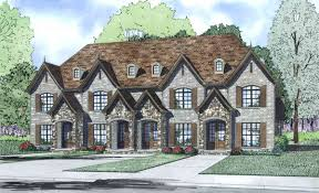 french country four plex 60620nd architectural designs house