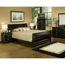 black bedroom sets for cheap sleigh bed bedroom sets for less overstock com