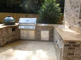 Small Kitchens Bbq Islands Fireside Outdoor Kitchens by Outdoor Kitchen Bar With Granite And Sink Top Plus Big Green Egg