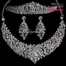 rhinestone necklace set images Fashion jewelry sets 2018 bridal wedding jewelry set costume jpg