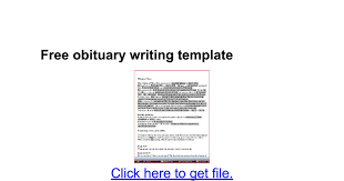 sle funeral programs free obituary writing template docs