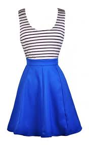 blue black and white stripe dress cute blue dress blue nautical