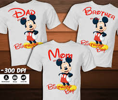 mickey mouse birthday shirt set mickey mouse birthday shirt for family mickey mouse iron on