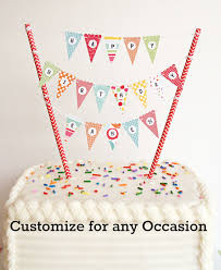 banner cake topper bonus kit mini cake banner cake bunting diy kit happy