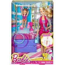 barbie gymnastic coach doll and playset walmart com
