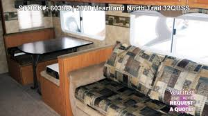 Bunkhouse Rv Floor Plans by Heartland North Trail 32qbss Used Bunk House Travel Trailer 2010