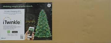 itwinkle christmas tree ge itwinkle 7 5ft easy shape x tree walmart