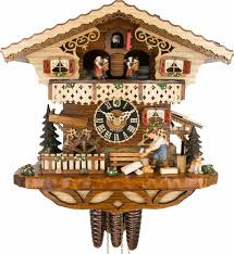 cuckoo clock 1 day movement chalet style 29cm by hönes 6245t