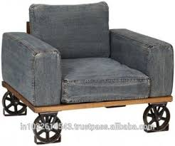 industrial denim sofa with wheels industrial sofa collection 1