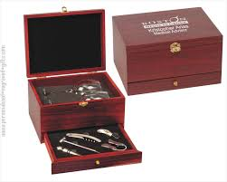 wine set gifts engraved wine tool gift set with glasses in rosewood box