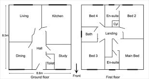 semi detached floor plans plans