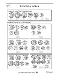 2nd grade 3rd grade math worksheets count the money greatschools