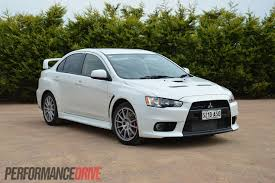 lancer mitsubishi white 2013 mitsubishi lancer evolution x review video performancedrive