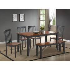 Dining Room Table With Bench Seat Boraam Bloomington Dining Table Set Black Cherry Hayneedle