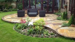 Raised Patio Construction Natural Stone Patio Garden Designer Specialist In Water