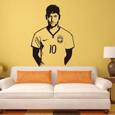 aliexpress com buy neymar junior soccer wall sticker sports aliexpress com buy neymar junior soccer wall sticker sports football player wall decal for boys room decor barcelona poster barca wallpaper from reliable