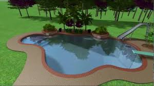 swimming pool with slide and diving board youtube