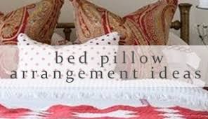bed pillow arrangement ideas meadow lake road