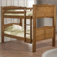 Linon Bunk Bed Linon Shutter Bunk Bed In Pecan Childrens Designer Beds