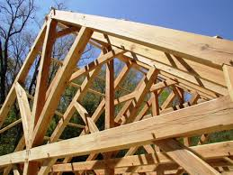 Prefab Construction Wood Roof Trusses Roofing Decoration