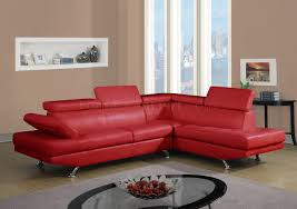 Red Sectional Sofas by U9782 Sectional Sofa In Red Bonded Leather By Global