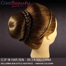 hair bun clip icravebeauty clip in hair bun ballerina