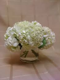 white hydrangea 5 in short cylinder scentsational florals