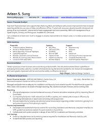 resume of financial analyst printable business analyst resume senior financial analyst resume