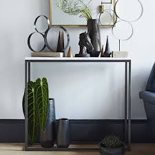 Skinny Wall Table by Box Frame Console Marble West Elm Au