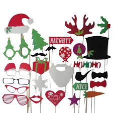 christmas photo booth props 27pcs christmas santa hat party masks photo booth props mustache