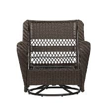 Patio Swings And Gliders Shop Garden Treasures Glenlee Brown Wicker Swivel Glider Patio