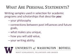 personal statement writing workshop uw bothell 2013