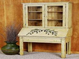 furniture white secretary desk with hutch with oak parsons chair