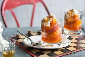 cuisine vin de and apricots poached in jurançon wine verrine de pêches et