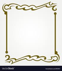 Decorative frames Royalty Free Vector Image VectorStock