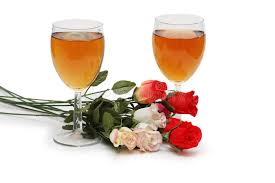 flowers wine two glasses on wine and flowers stock image image of goblet