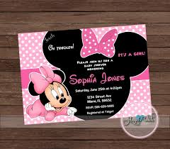 minnie mouse baby shower invitation minnie mouse baby shower