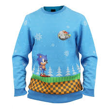 christmas jumper sonic green hill zone christmas jumper sweater numskull