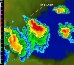 Doppler Radar Map Hail Spikes On Doppler Radar Imagery