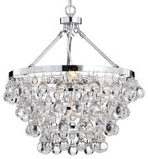 Odeon Crystal Chandelier Crystal Glass 5 Light Luxury Chandelier Chrome Contemporary And