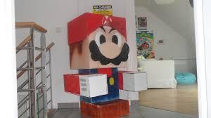 chambre mario cardboard papercraft mario